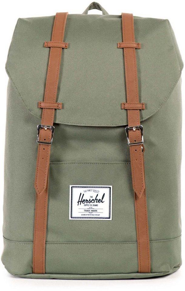 Herschel Rucksack, »Retreat Backpack, Deep Lichen Green« in Deep Lichen Green