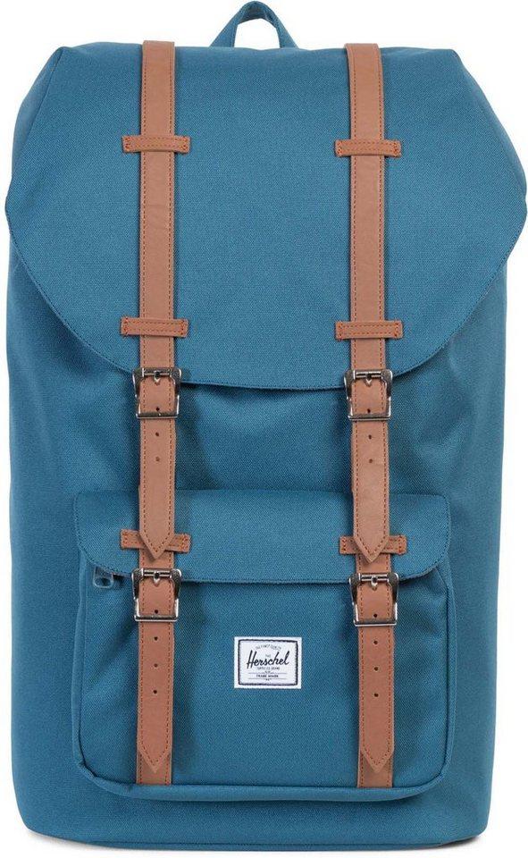 Herschel Rucksack mit Laptopfach, »Little America Backpack, Indian Teal« in Indian Teal