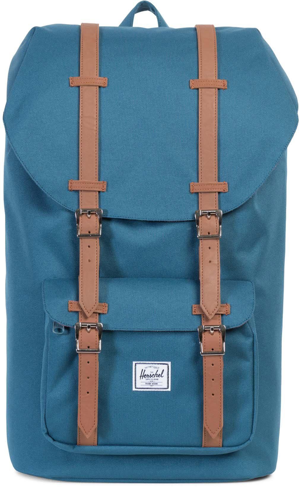 Herschel Rucksack mit Laptopfach, »Little America Backpack, Indian Teal«