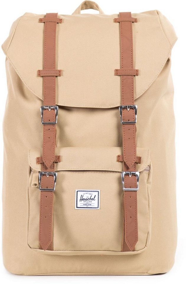 herschel rucksack mit laptopfach little america khaki mid volume online kaufen otto. Black Bedroom Furniture Sets. Home Design Ideas