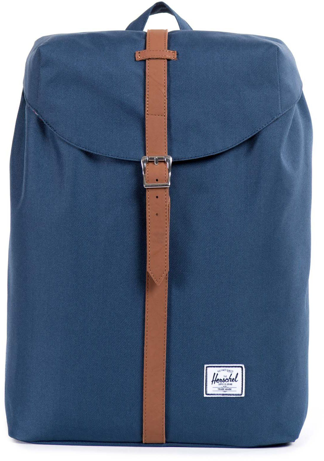 Herschel Rucksack mit Laptopfach, »Post Backpack, Navy Mid Volume«