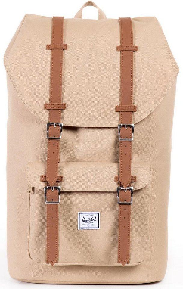 Herschel Rucksack mit Laptopfach, »Little America Backpack, Khaki« in khaki