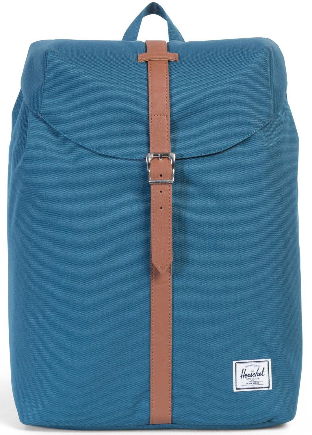 Herschel Rucksack mit Laptopfach, »Post Backpack, Indian Teal, Mid Volume«