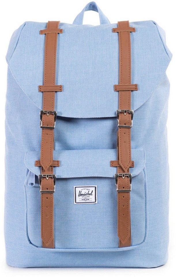 Herschel Rucksack mit Laptopfach, »Little America, Chambray, Crosshatch, Mid Volume« in hellblau