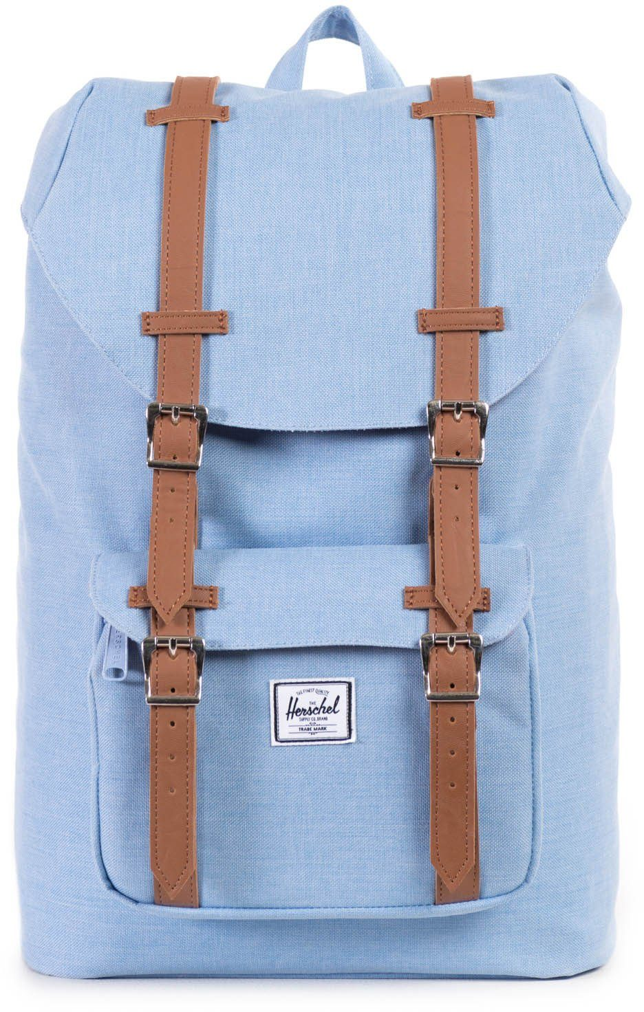 Herschel Rucksack mit Laptopfach, »Little America, Chambray, Crosshatch, Mid Volume«