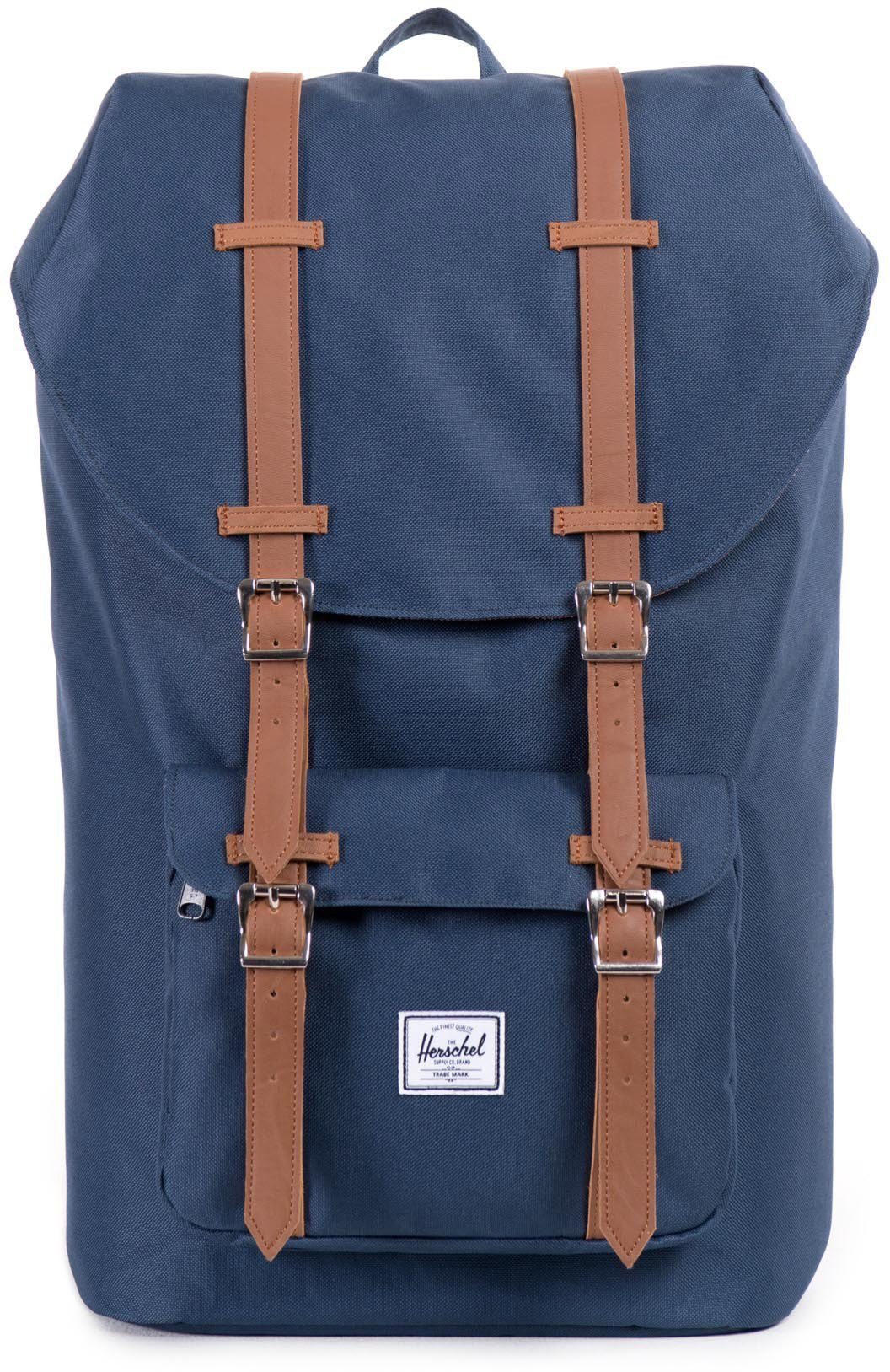 Herschel Rucksack mit Laptopfach, »Little America Backpack, Navy«