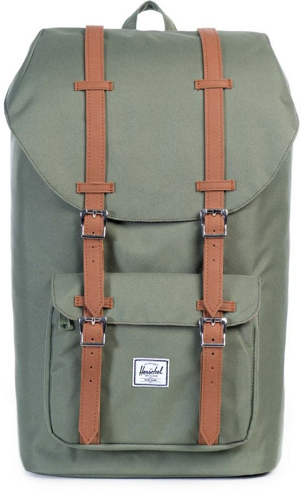 Herschel Rucksack mit Laptopfach, »Little America Backpack, Deep Lichen Green« in Deep Lichen Green