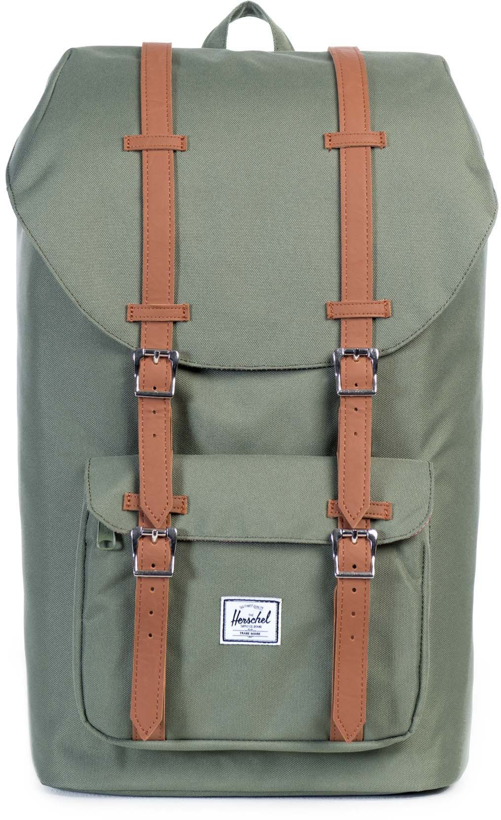 Herschel Rucksack mit Laptopfach, »Little America Backpack, Deep Lichen Green«