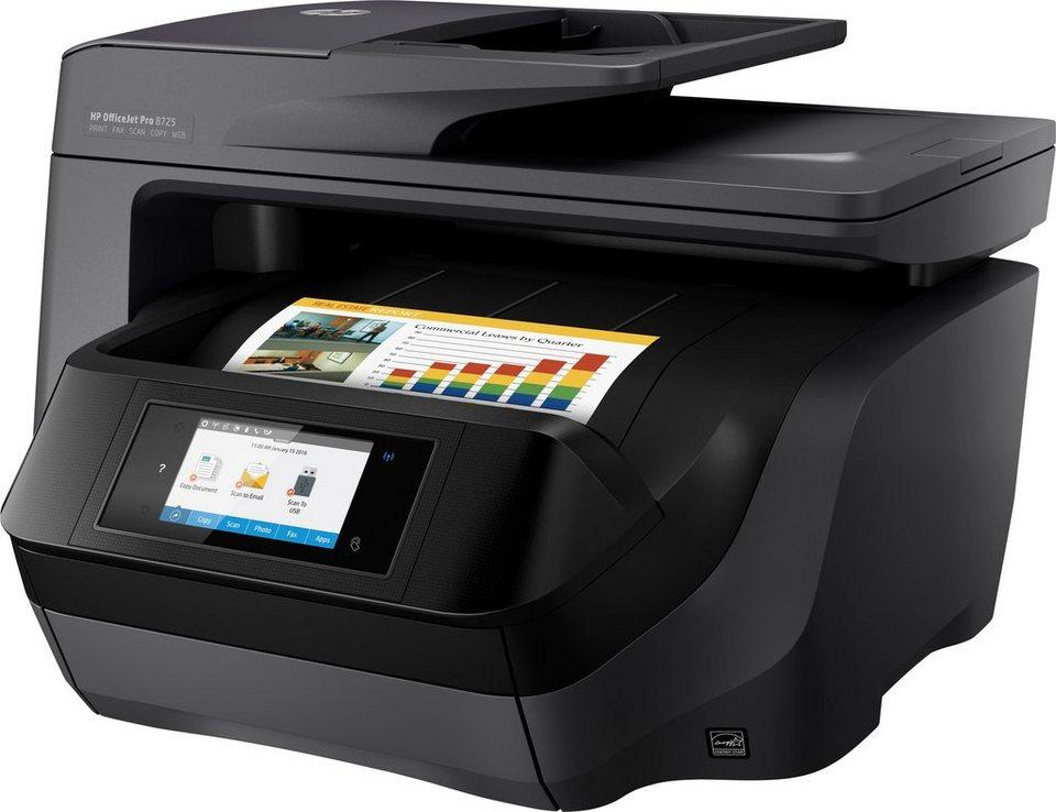HP OfficeJet Pro 8725 Multifunktionsdrucker in schwarz