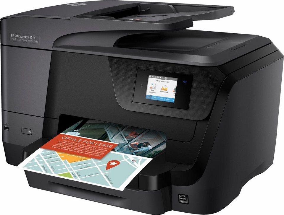 HP OfficeJet Pro 8715 Multifunktionsdrucker in schwarz