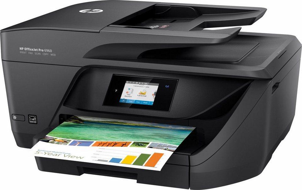 HP OfficeJet Pro 6960 Multifunktionsdrucker in schwarz