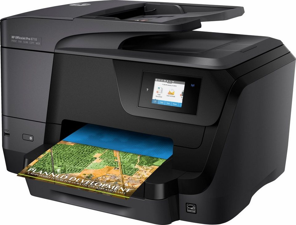 HP OfficeJet Pro 8710 Multifunktionsdrucker in schwarz