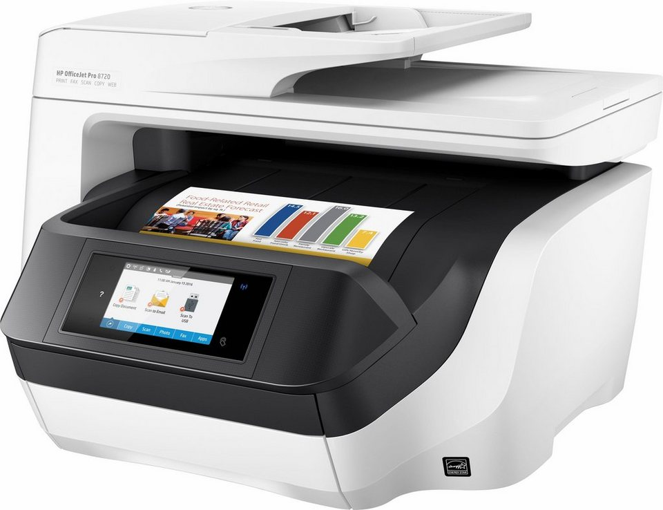HP OfficeJet Pro 8720 Multifunktionsdrucker in weiß