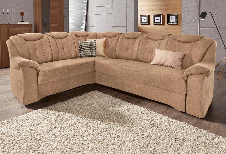 Sit&More Polsterecke mit langem Schenkel, wahlweise mit Bettfunktion in braun