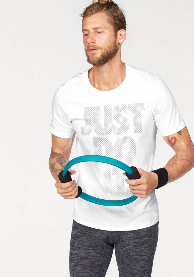 Nike T-Shirt »TEE AV15 JUST DO IT STACK« in weiß