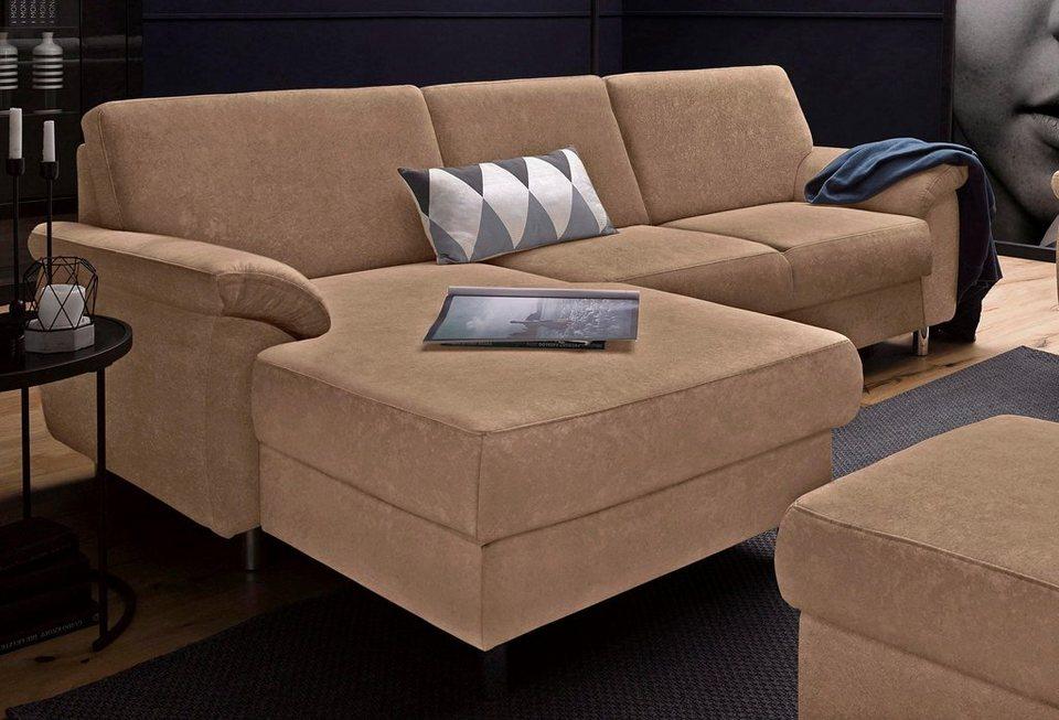 Sit&More Polsterecke, wahlweise mit Bettfunktion in braun