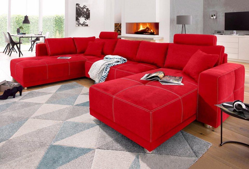 Wohnlandschaft mit bettfunktion und bettkasten otto for Couch mit bettfunktion und bettkasten
