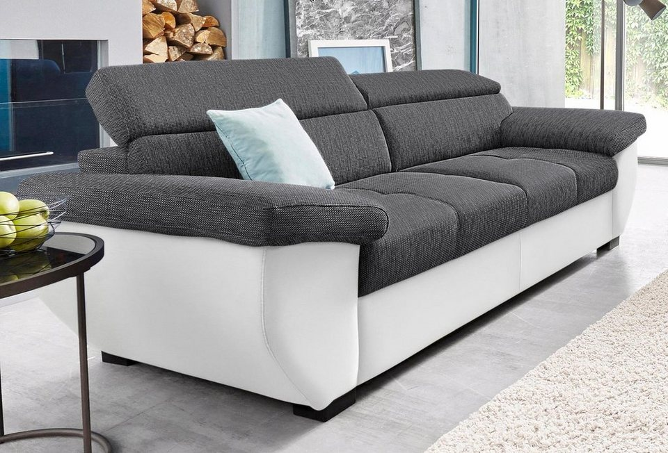 sofa 3 sitzer grau sitzer sofas fargo sofa grau leder. Black Bedroom Furniture Sets. Home Design Ideas