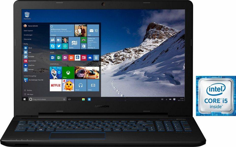 Medion® ERAZER® P6679 Notebook, Intel® Core™ i5, 39,6 cm (15,6 Zoll), 1128 GB Speicher, 8192 MB RAM in schwarz