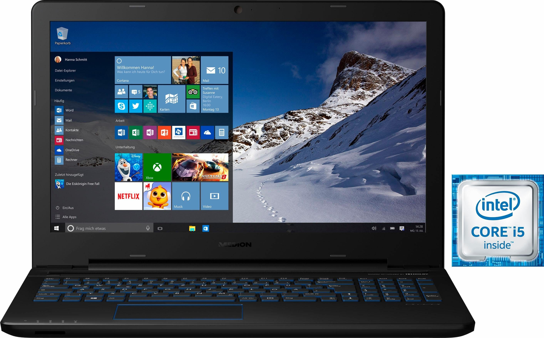Medion® ERAZER® P6679 Notebook, Intel® Core™ i5, 39,6 cm (15,6 Zoll), 1128 GB Speicher, 8192 MB RAM