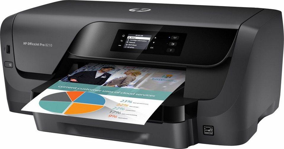 HP OfficeJet Pro 8210 Drucker in schwarz
