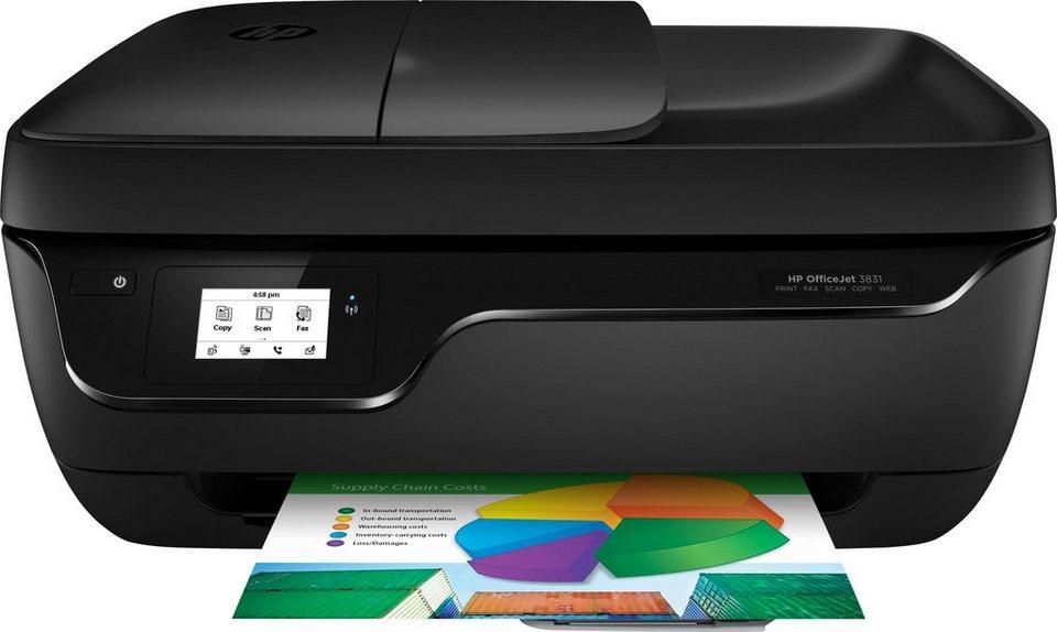 HP Officejet 3831 Multifunktionsdrucker in schwarz