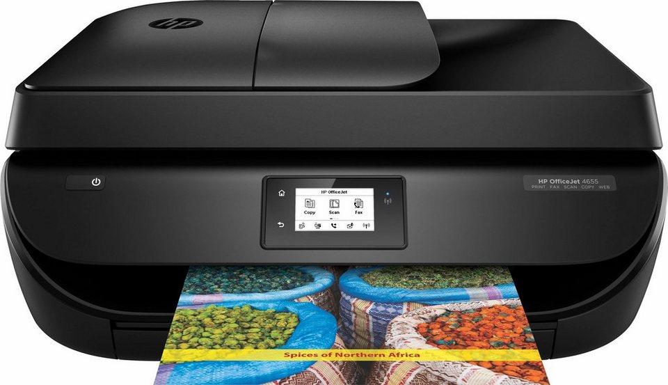 HP Officejet 4655 Multifunktionsdrucker in schwarz