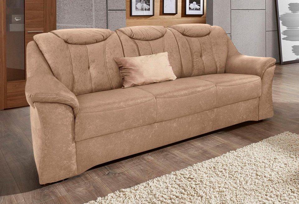 Sit&More 3-Sitzer, mit komfortablem Federkern in braun
