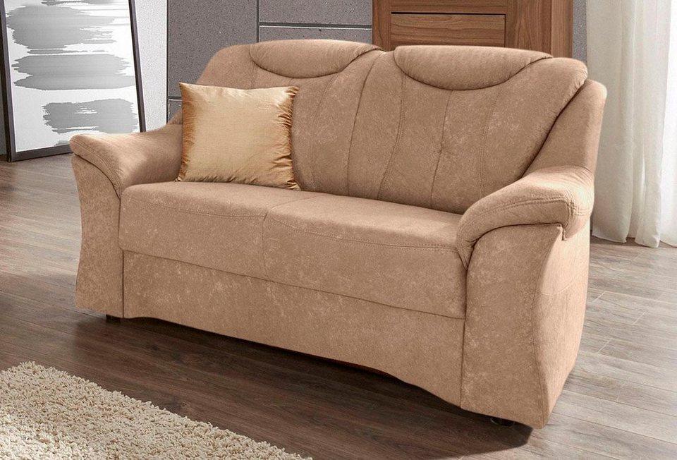 Sit&More 2-Sitzer, mit komfortablem Federkern in braun