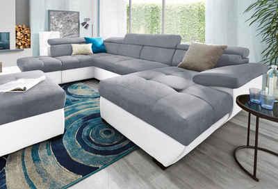 Große Wohnlandschaften wohnlandschaft kaufen sofa in u form otto