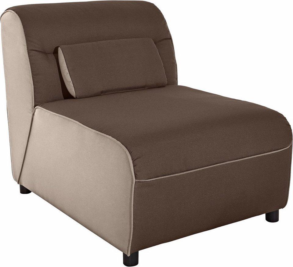Sessel in beige/braun