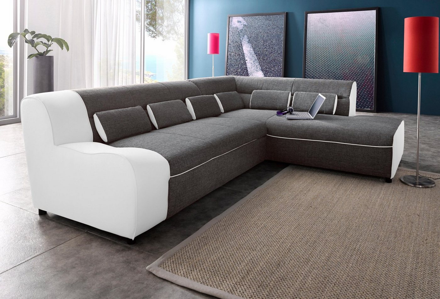 ecksofa mit schlaffunktion f r kleine r ume inspirierendes design f r wohnm bel. Black Bedroom Furniture Sets. Home Design Ideas