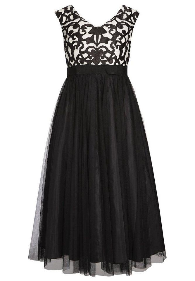 Apart Kleid in schwarz / creme