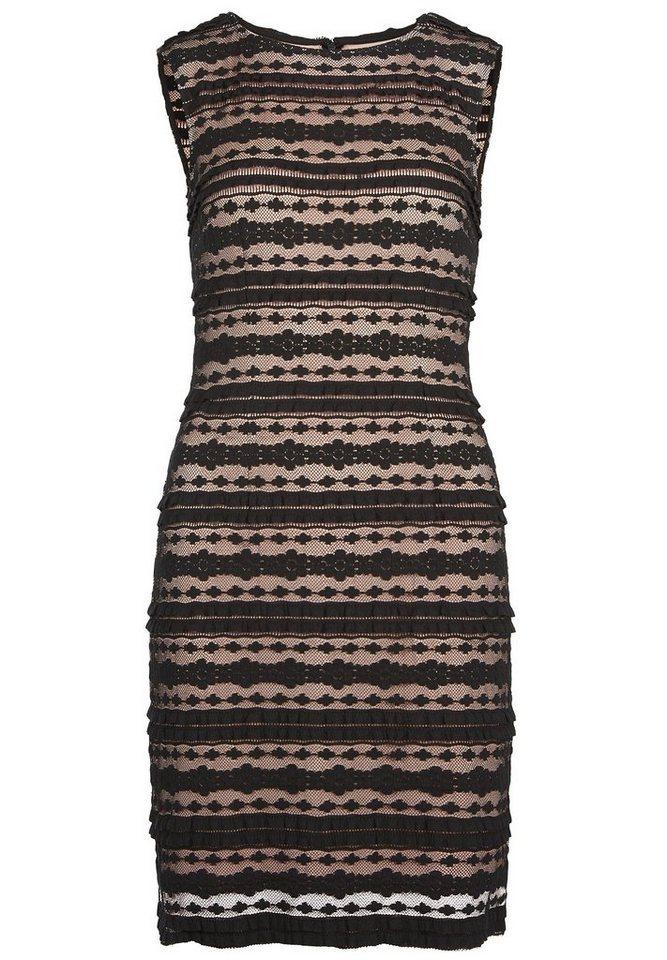 Apart Kleid in schwarz-puder