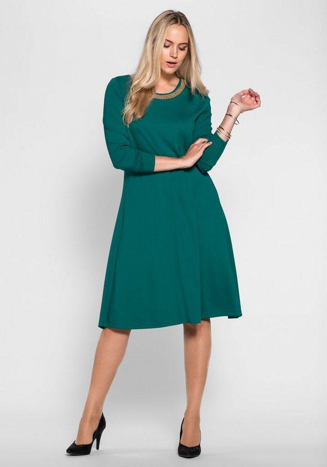 sheego Style Kleid in smaragd