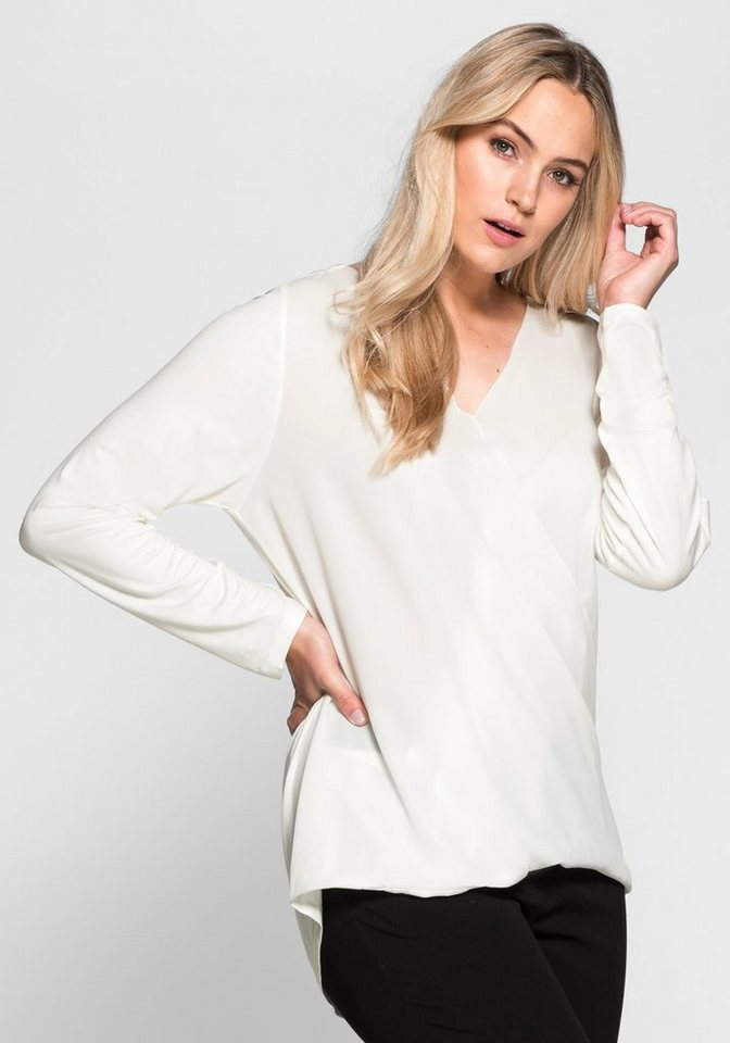 sheego Style Blusenshirt in offwhite