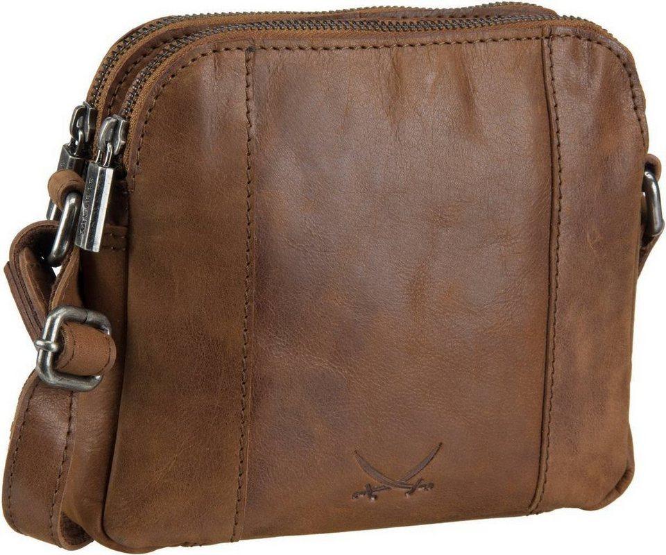 SANSIBAR Saturnus 1051 Zip Bag in Cognac