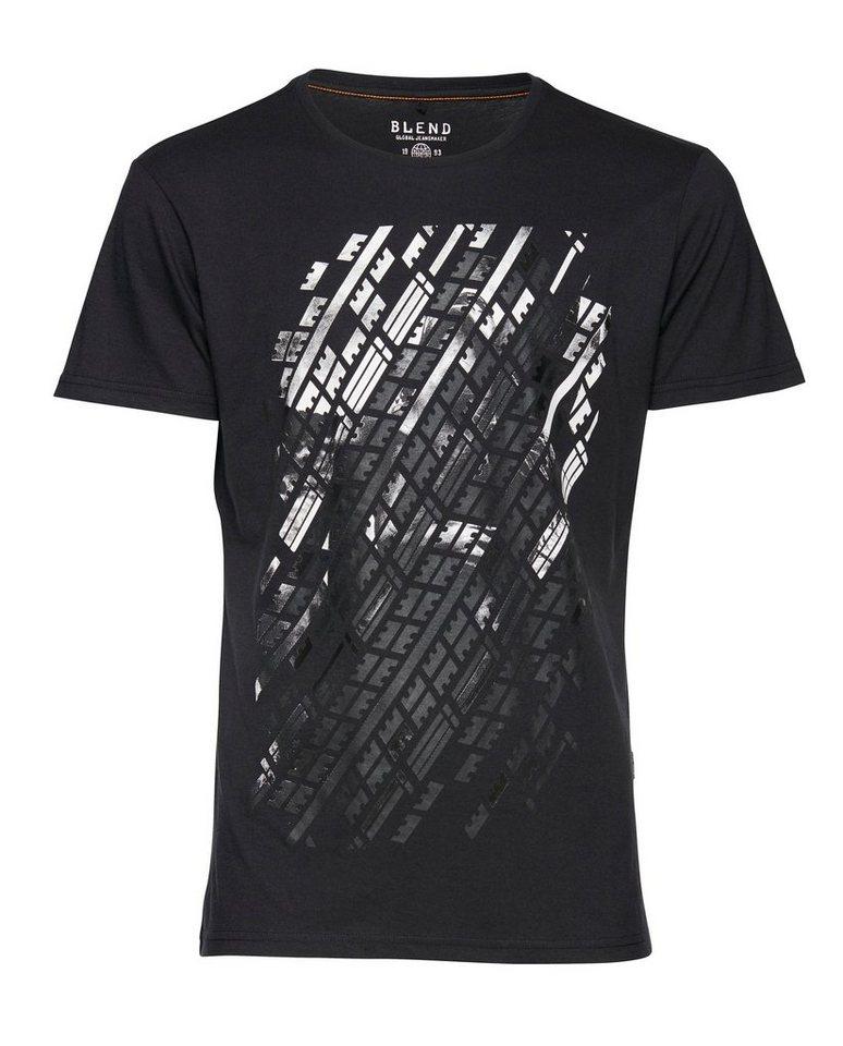Blend Slim fit, Schmale Form, T-Shirt in Schwarz