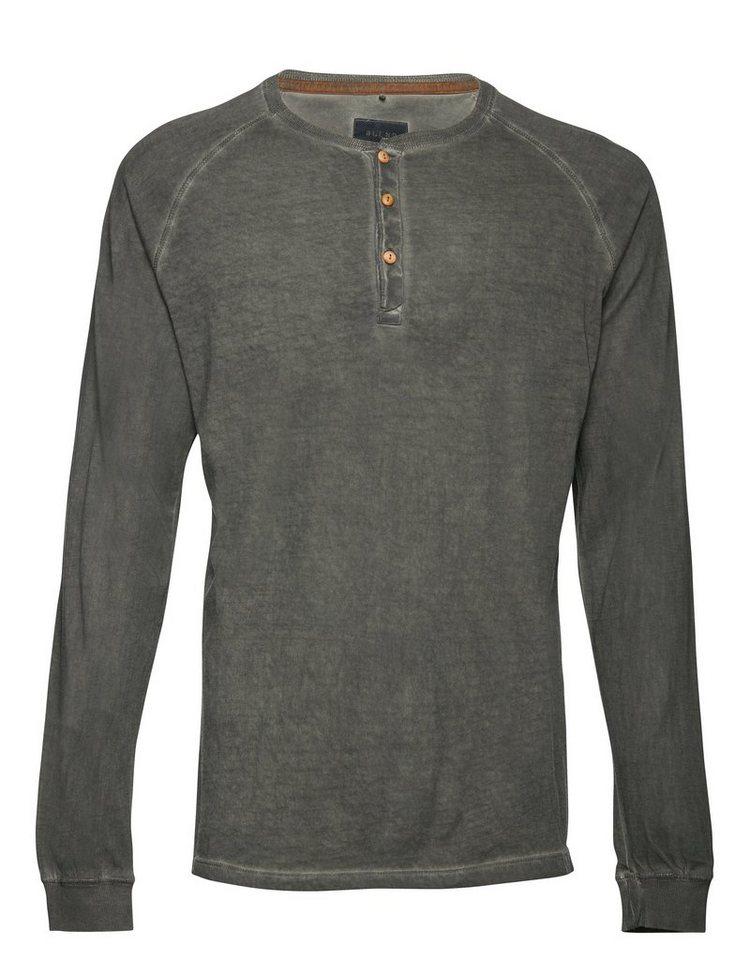 Blend Slim fit, Schmale Form, T-Shirt langarm in Grau