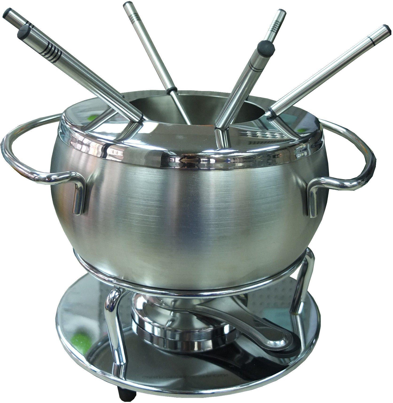 Style'n Cook Fleisch-Fondue, BELLA, Bourguignonne Set 9-tlg., Edelstahl, Antihaft-versiegelt, »Swiss Fondue«