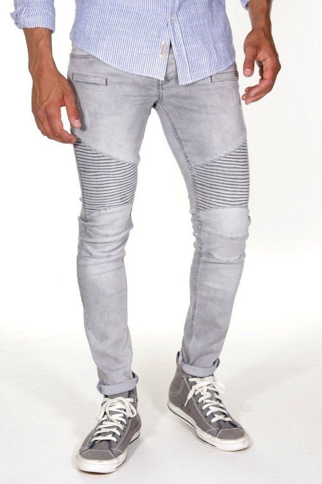 Bright Jeans Stretchjeans slim fit in grau