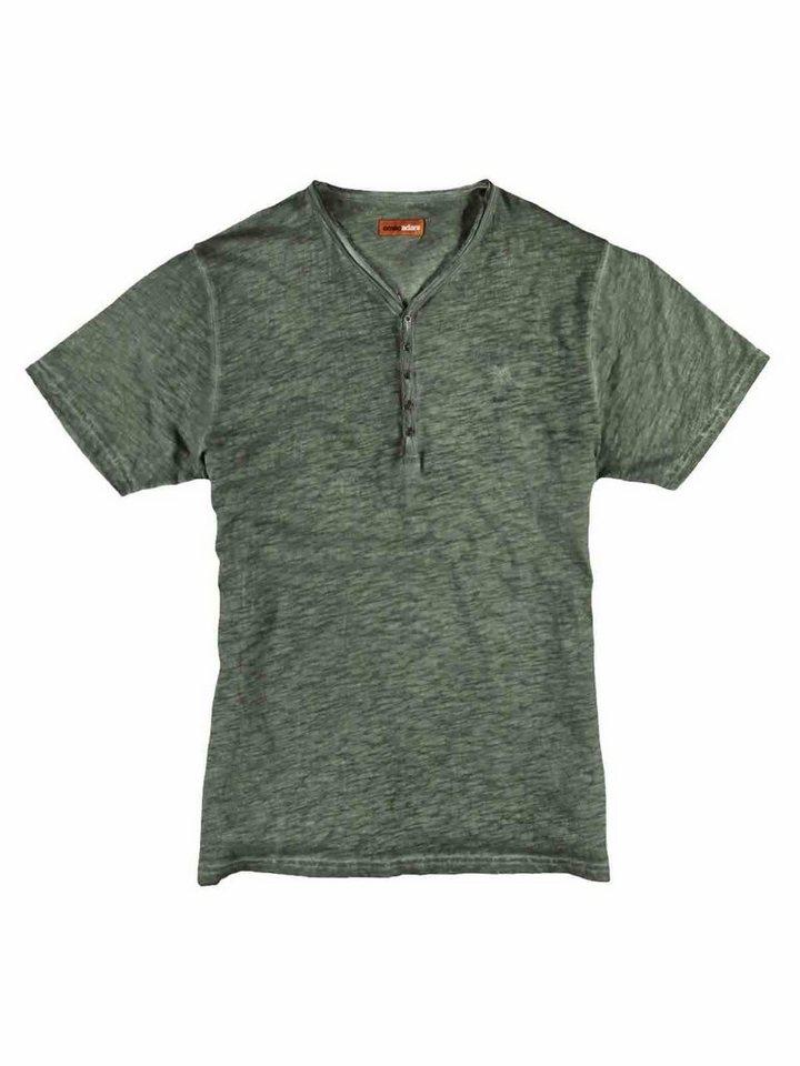 emilio adani Henley T-Shirt in Signalgrün