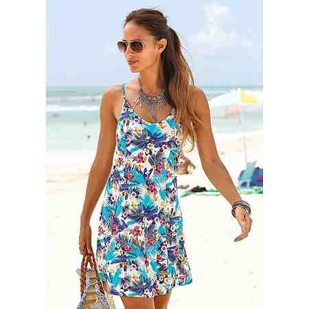 Beachtime Strandkleid mit Hawaii-Print