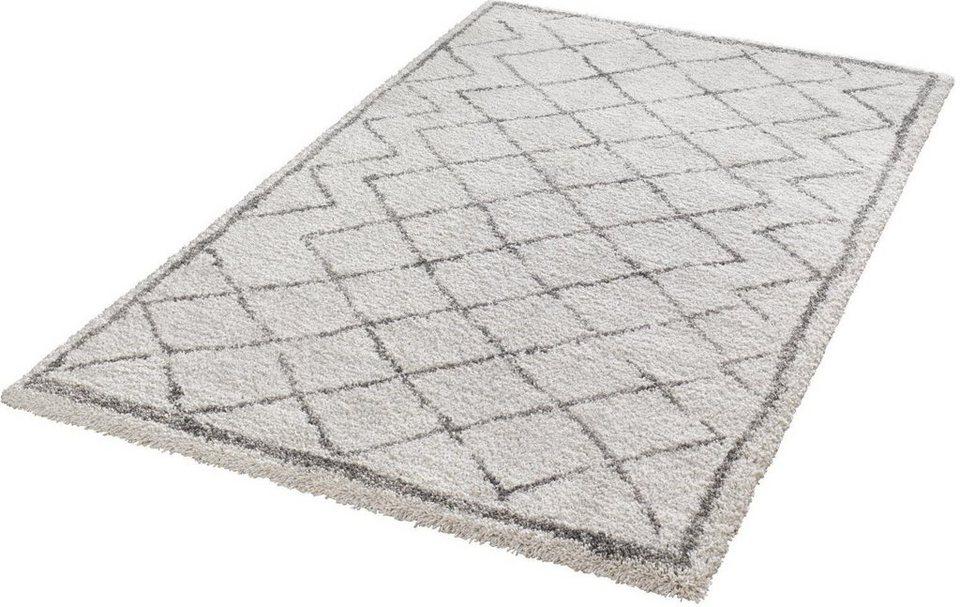 Hochflor-Teppich, Mint Rugs, »Loft«, Höhe 35 mm, gewebt in creme grau