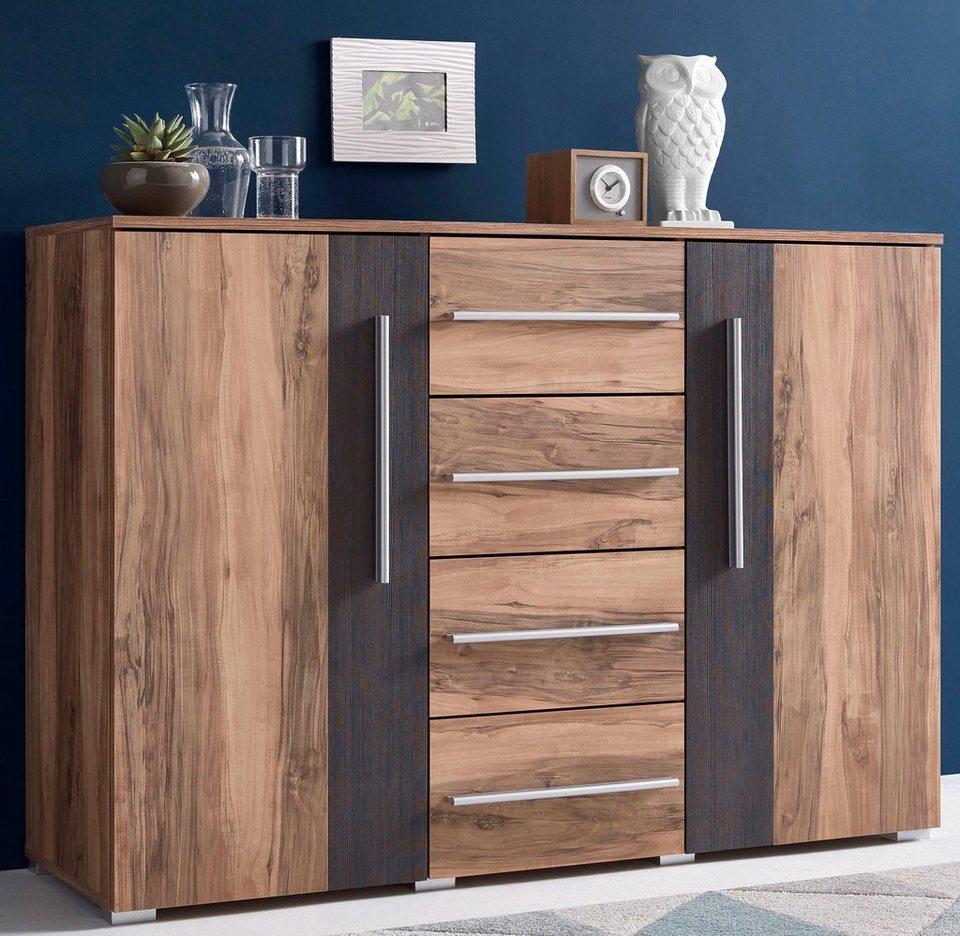 Sideboard, Breite 132 cm in Satin nussbaumfarben/ Darkwood