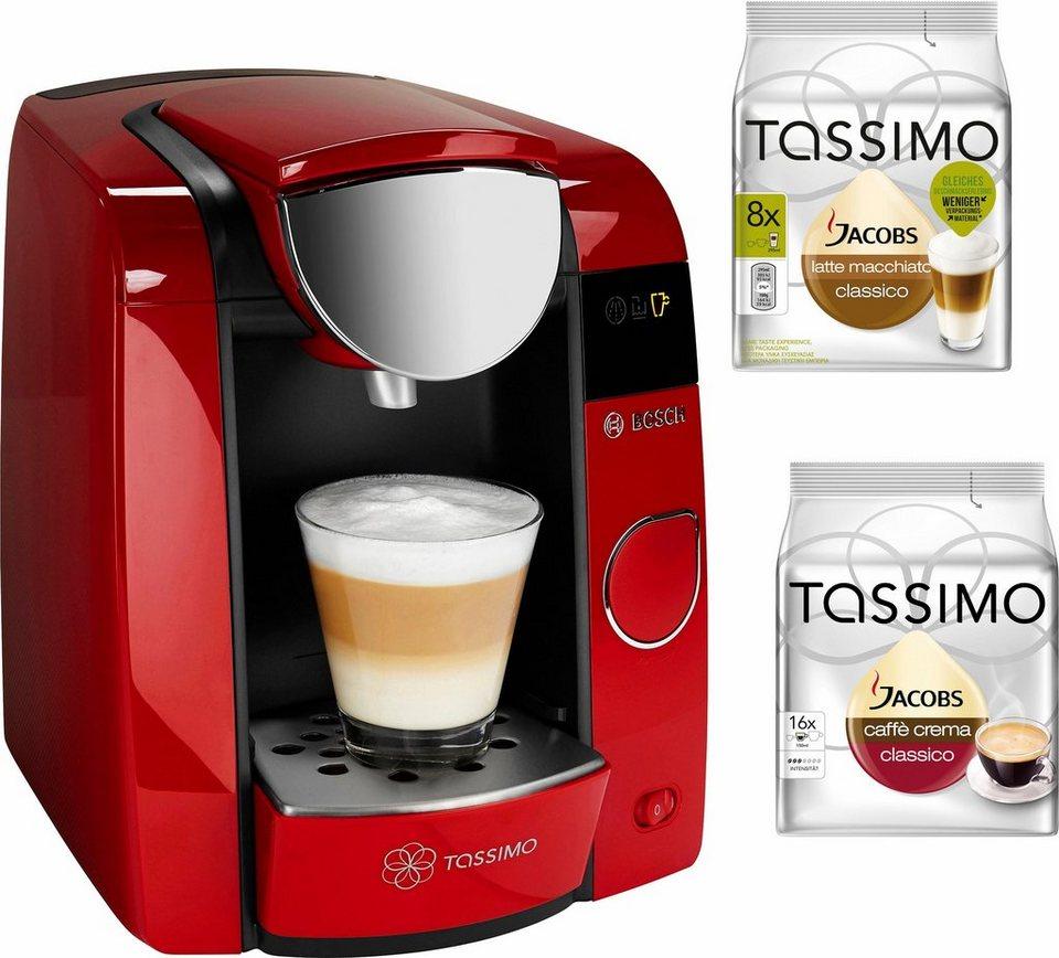 Bosch Tassimo JOY Multigetränkesystem TAS4503 in rubin red / anthrazit