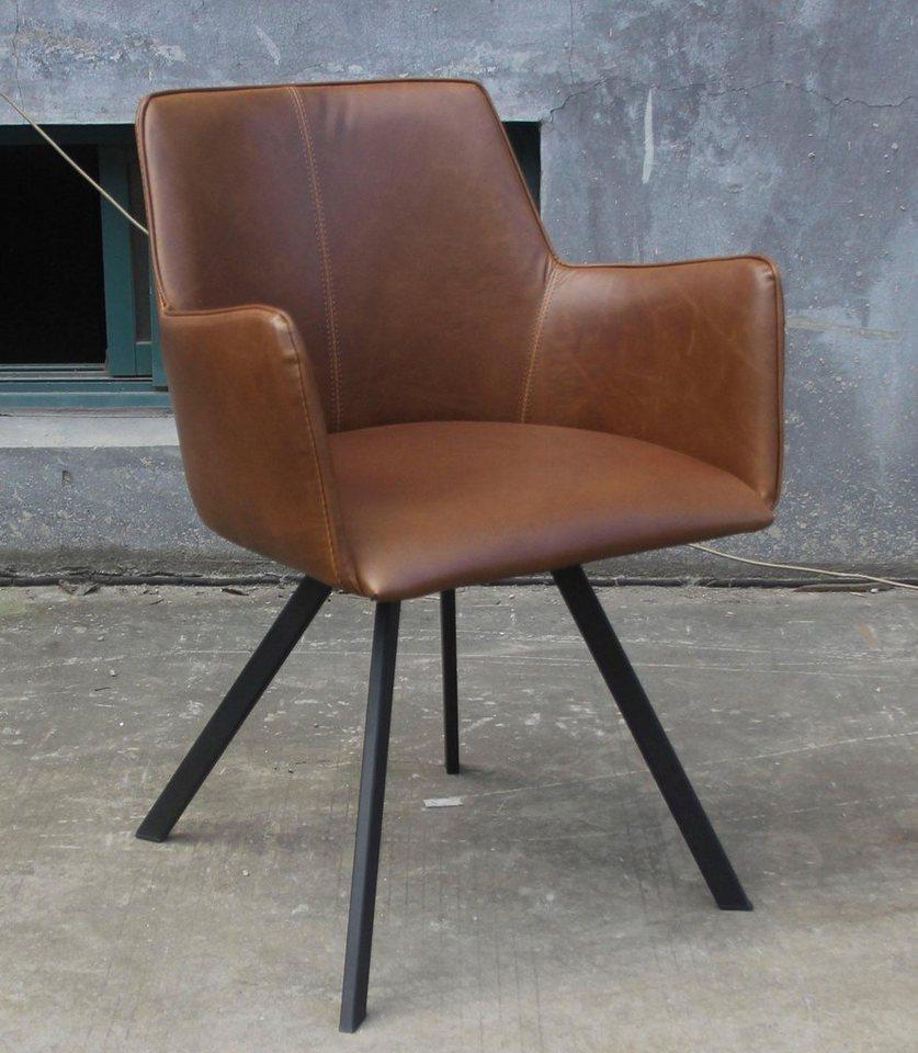 SIT Sessel »Norfolk«, mit Gestell aus Stahlrohr (2 Stück) in schwarz/braun