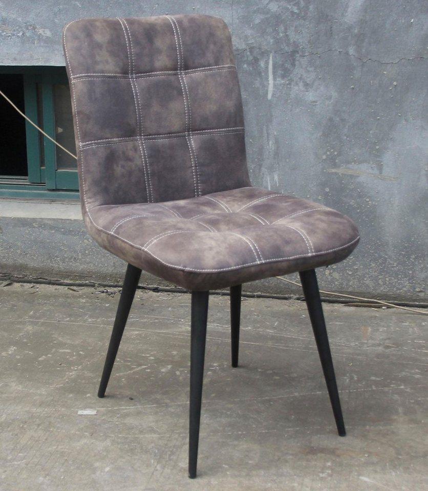 SIT Stühle »Tampa«, in 2 Farben, mit Gestell aus Stahlrohr (2 Stück) in schwarz/grau