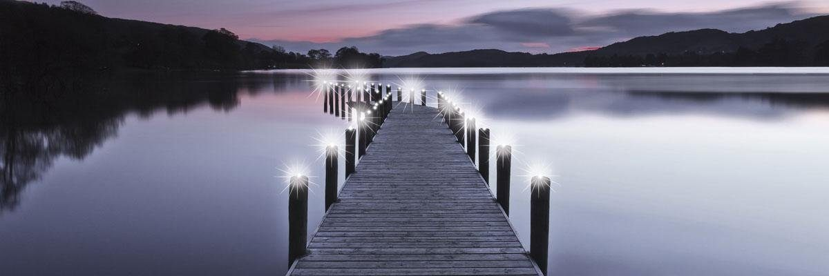 Eurographics LED-Bild »Pontoon«, 105/35 cm