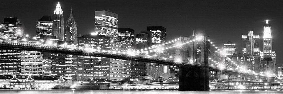 Eurographics LED-Bild »NYC«, 105/35 cm in grau/weiß